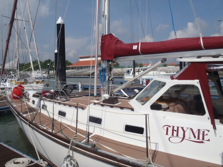 SV Thyme - our 'neighbour' who sailed with us through out the two weeks. I got to spend a day sailing on Thyme, which I really enjoyed as I could have a proper shower and Amanda was such a great cook and wonderful company. Thanks Si and Amanda!