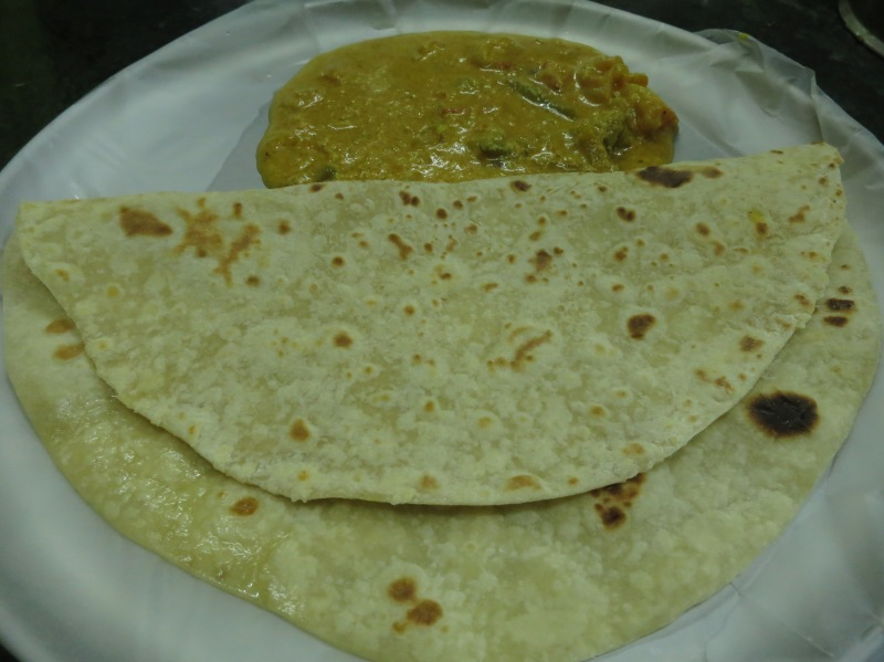 Chapati and potato curry